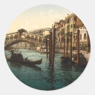 Rialto Bridge I, Venice, Italy Classic Round Sticker