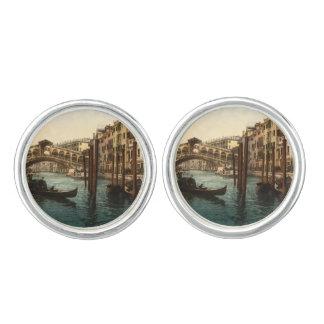Rialto Bridge I, Venice, Italy Cufflinks