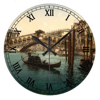 Rialto Bridge I, Venice, Italy Large Clock