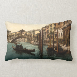 Rialto Bridge I, Venice, Italy Lumbar Pillow