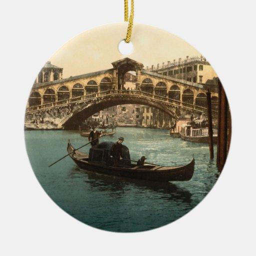 Rialto Bridge I, Venice, Italy Christmas Tree Ornament