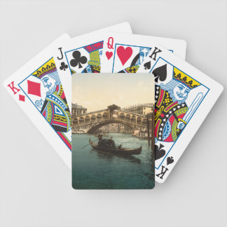 Rialto Bridge I, Venice, Italy Bicycle Poker Deck
