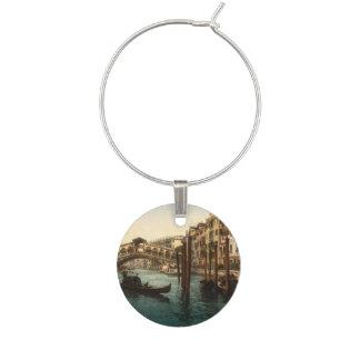 Rialto Bridge I, Venice, Italy Wine Glass Charm