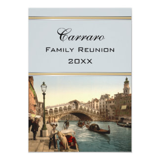 Rialto Bridge II Venice Italy Family Reunion Card