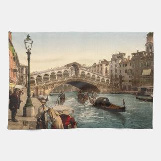 Rialto Bridge II, Venice, Italy Hand Towel