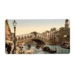 Rialto Bridge II, Venice, Italy Labels