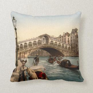 Rialto Bridge II, Venice, Italy Throw Pillow