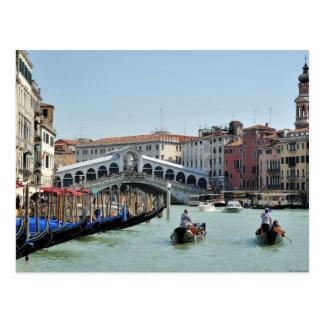 Rialto Bridge on Grand Canal Venice Italy Postcards