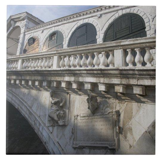 Rialto Bridge over the Grand Canal Venice Italy Tile