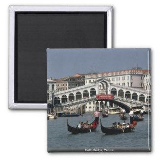 Rialto Bridge, Venice 2 Inch Square Magnet