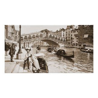 Rialto Bridge Venice Italy 1895 Poster
