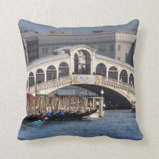 Rialto Bridge Venice Italy Throw Pillow