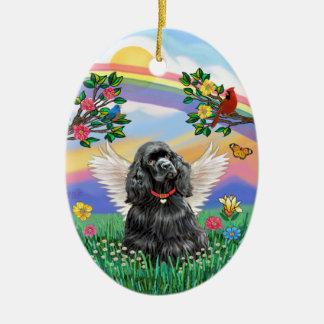 Rianbow Life - Black Cocker Spaniel Ceramic Ornament