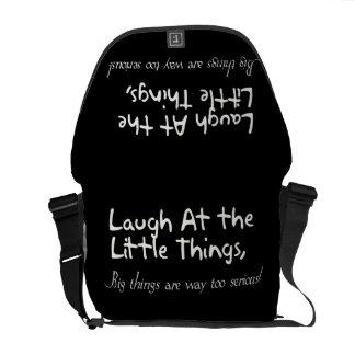 Ríase de las pequeñas cosas refrán de motivación bolsas de mensajeria