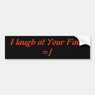 Ríase de su fall etiqueta de parachoque