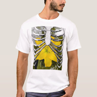 Rib Cage and Flowers Pop Art T-Shirt