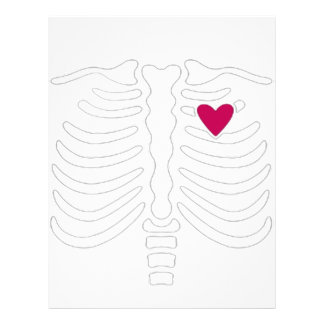 Rib Cage and Heart Letterhead