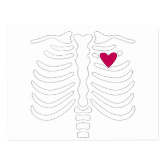 Rib Cage and Heart Postcard