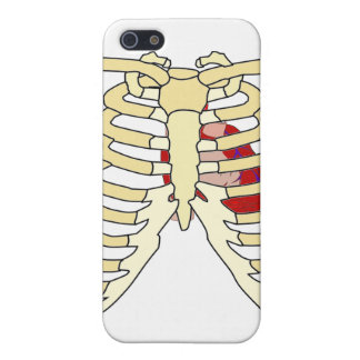 Rib Cage and Heart Spec Case iPhone 5 Case