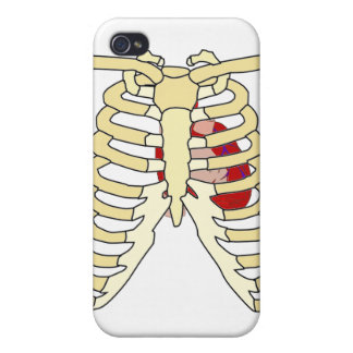 Rib Cage and Heart Spec  iPhone 4 Cover
