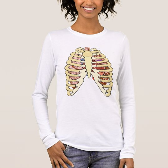 Rib Cage Lungs Heart Long Sleeve T Shirt