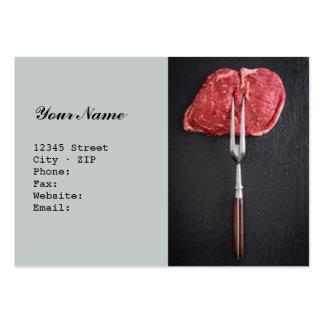Rib eye steak large business card