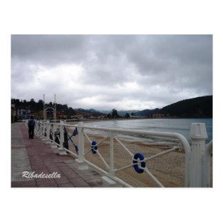 Ribadesella Asturias Spain Postcard