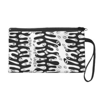 ribbed cell wristlet purse