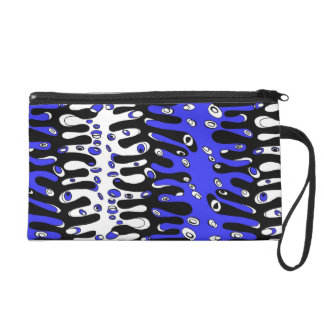 ribbed you cell wristlet purse