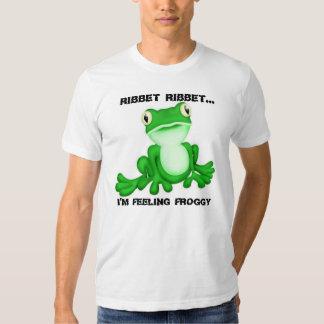 Ribbet Ribbet… Estoy sintiendo el Froggy Playeras