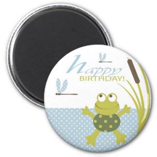 Ribbit Birthday Magnet 2