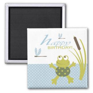 Ribbit Birthday Magnet B2