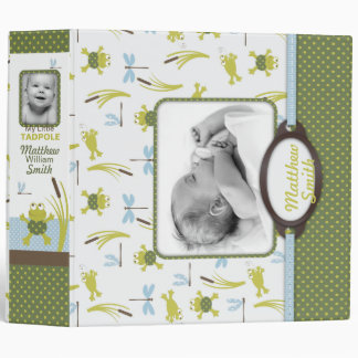 Ribbit Frog and Dragonfly Baby Memory Book Binder