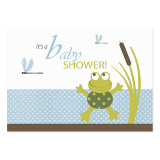 Ribbit Frog and Dragonfly Baby Shower Business Card