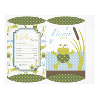 Ribbit Frog and Dragonfly Box Template Personalized Flyer