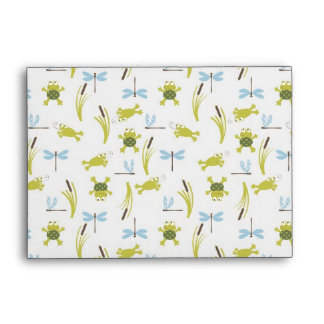 Ribbit Frog and Dragonfly Envelope