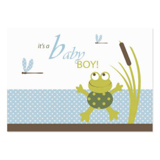 Ribbit Frog and Dragonfly Gift Tags Large Business Card