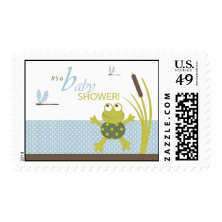 Ribbit Frog and Dragonfly Postage