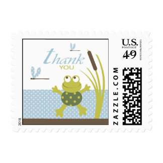 Ribbit Frog and Dragonfly Stamp