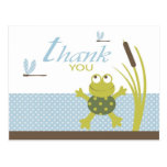 Ribbit Frog and Dragonfly Thank You Postcards