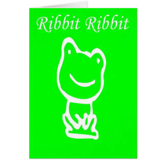 Ribbit Hello Frog Card