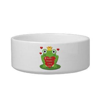 Ribbit Means I Love You Bowl