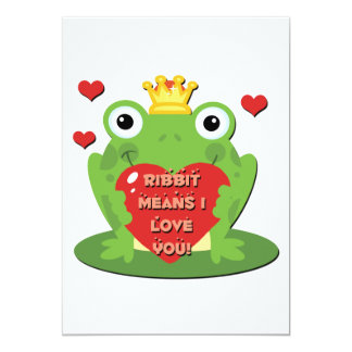 Ribbit Means I Love You Card