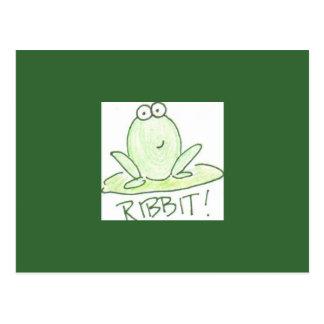 RIBBIT! POSTCARD