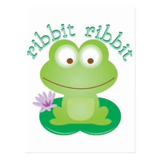 Ribbit Ribbit Postcard