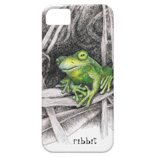 """""""Ribbit!""""  says the frog in the grassy brush. iPhone SE/5/5s Case"""