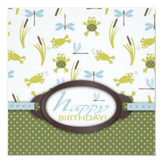 Ribbit Swimming Frog Birthday Card