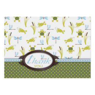 Ribbit TY Favor Tag 2 Business Card Template