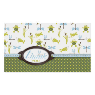 Ribbit TY Favor Tag 3 Business Card Template