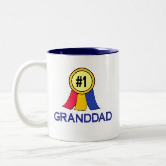 Ribbon #1 Granddad Two-Tone Coffee Mug